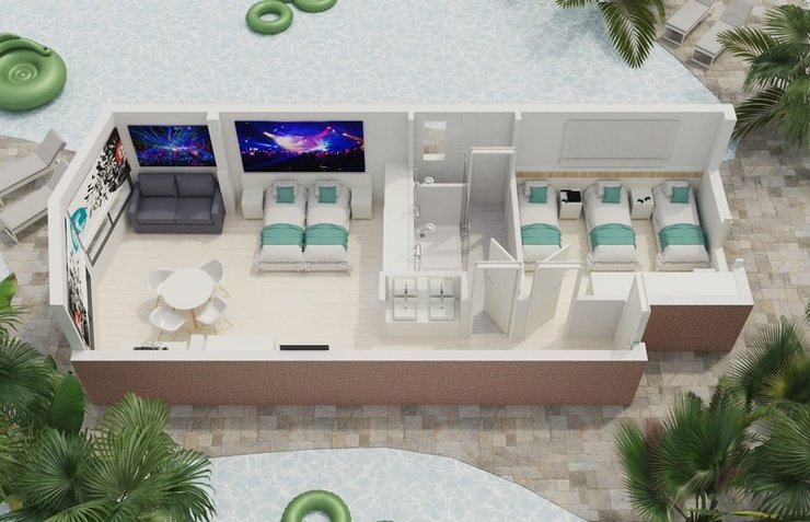 Party studio 6/6 апартаменты benidorm celebrations ™ music resort (adults only) бенидорм