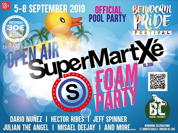 Open air supermartxe pool party апартаменты benidorm celebrations™ music resort (adults only) бенидорм